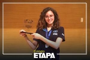 Resultados do Etapa em competições estudantis: aluna do Colégio conquista ouro na ONSP.