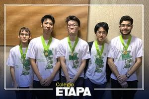 Resultados do Etapa em competições estudantis: alunos do Colégio conquistam 13 medalhas na OBB.