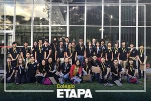 Resultados do Etapa em competições estudantis: alunos do Colégio conquistam 51 medalhas na OPF.