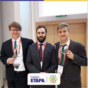 Resultados do Etapa em competições estudantis: alunos do Colégio conquistam prata no IYPT.