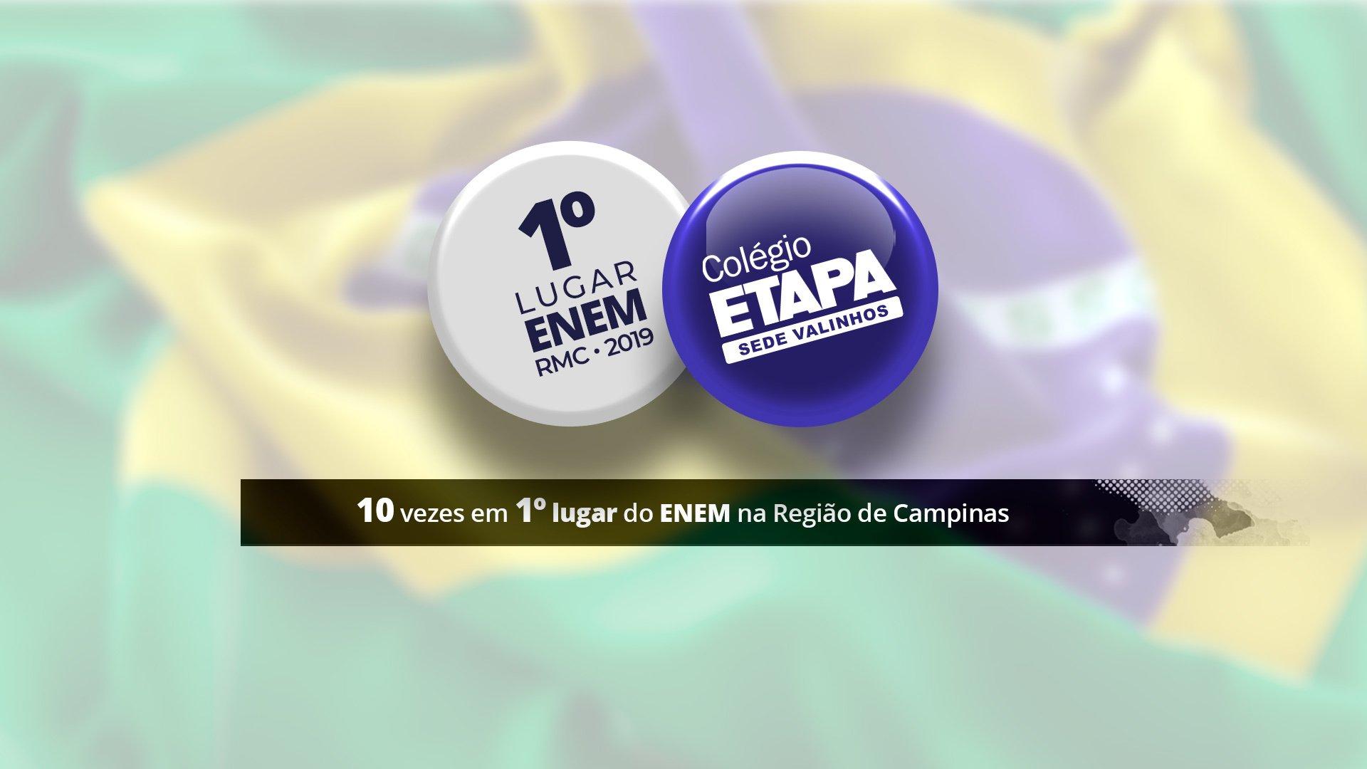 O Colégio Etapa Valinhos também é destaque do Enem 2019