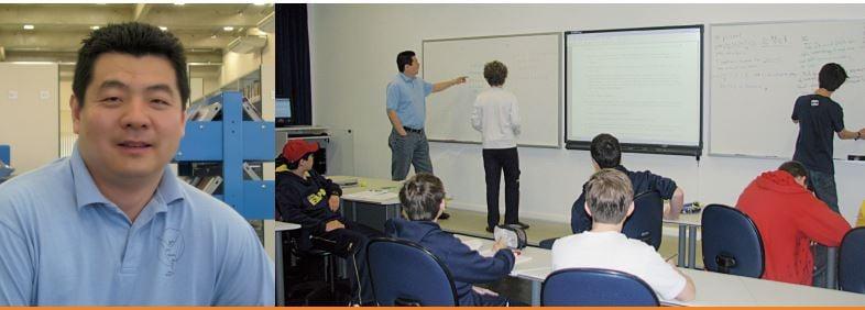 Os treinamentos olímpicos em parceria com os docentes da Phillips Exeter Academy são uma iniciativa inédita no Brasil.