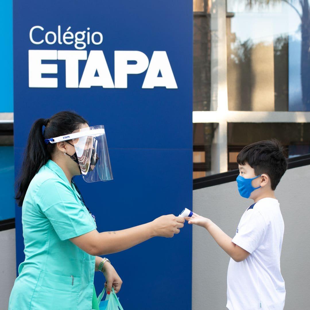 Os alunos que retornaram às aulas presenciais do Etapa encontraram uma nova unidade do Colégio e atualizações na infraestrutura das demais instalações