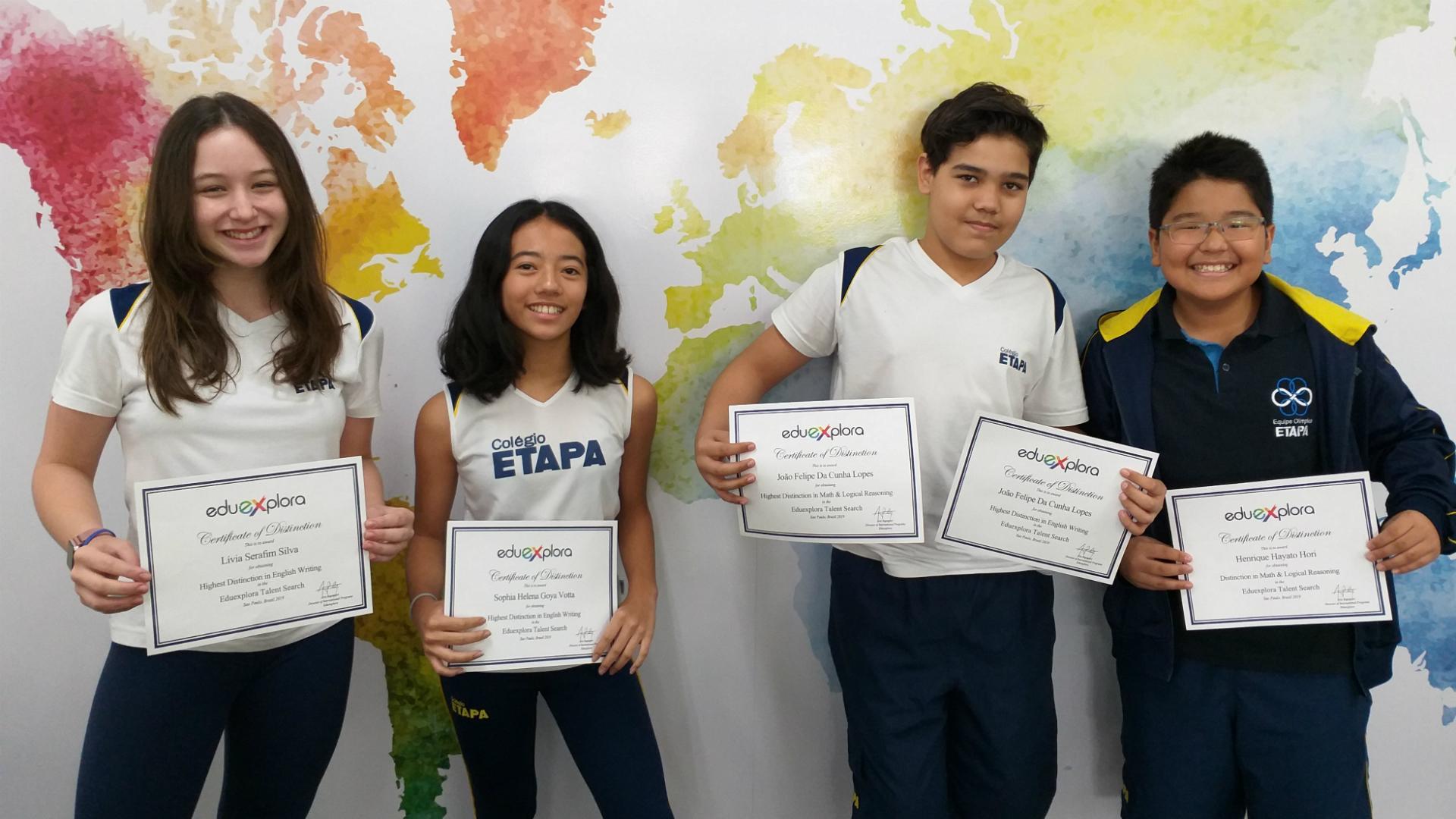Alunos do Etapa são premiados em programa da Stanford