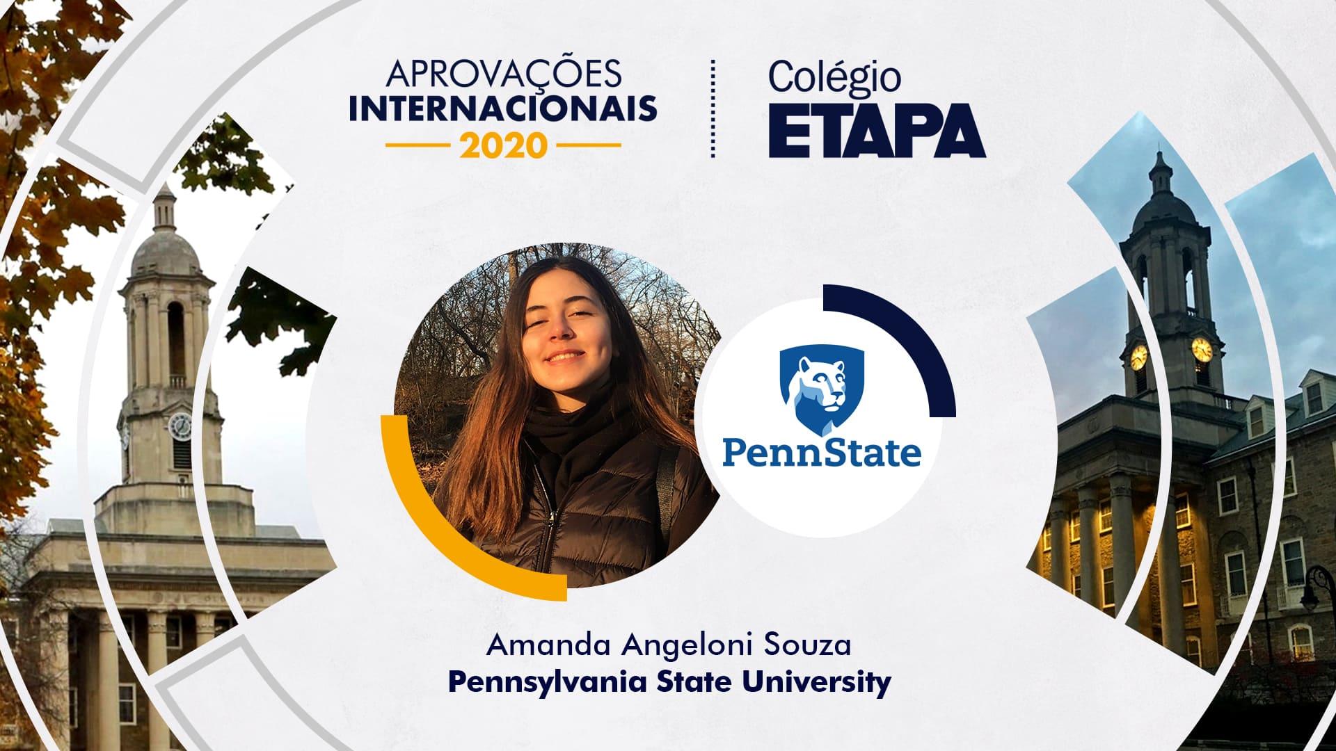 Amanda Angeloni Souza também foi aprovada no curso de Ciência e Tecnologia da Universidade Federal do ABC (UFABC).