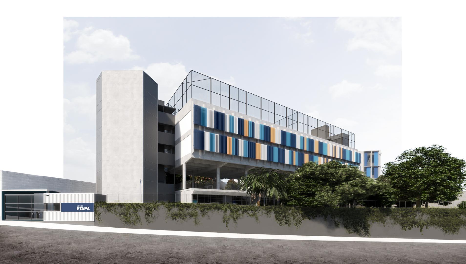 Fachada da Avenida Mascote - Nova unidade do Colégio Etapa
