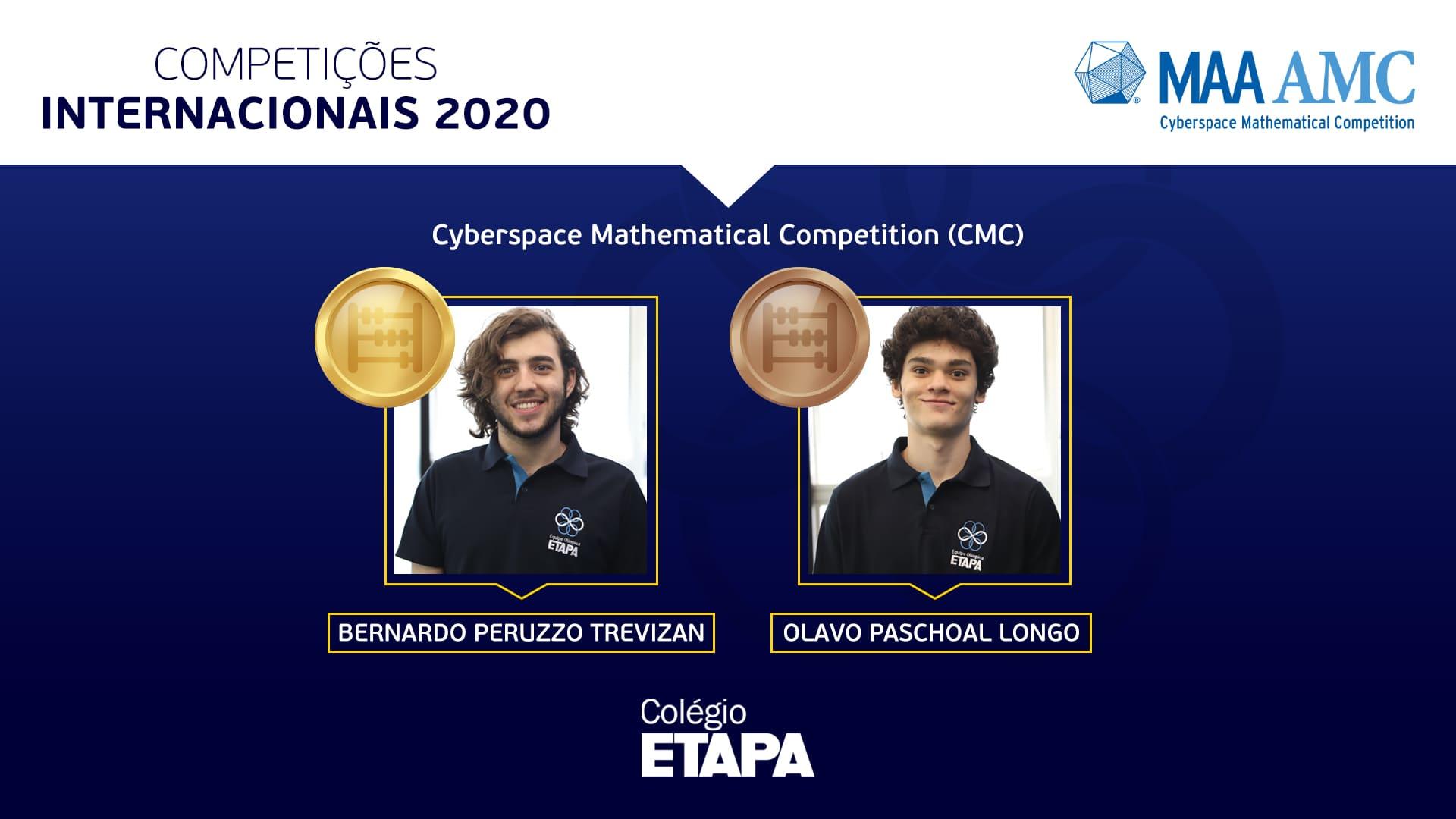 Bernardo Peruzzo Trevizan alcançou a maior nota entre os competidores brasileiros na Cyberspace Mathematical Competition.
