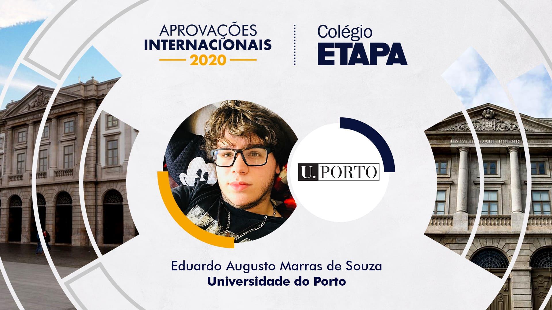 Aprovações Internacionais 2020: Eduardo Augusto Marras de Souza
