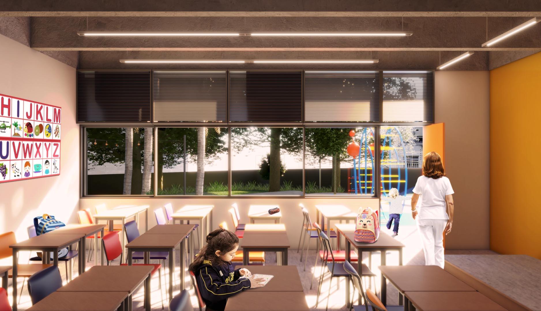Sala da Educação Infantil - Nova unidade do Colégio Etapa