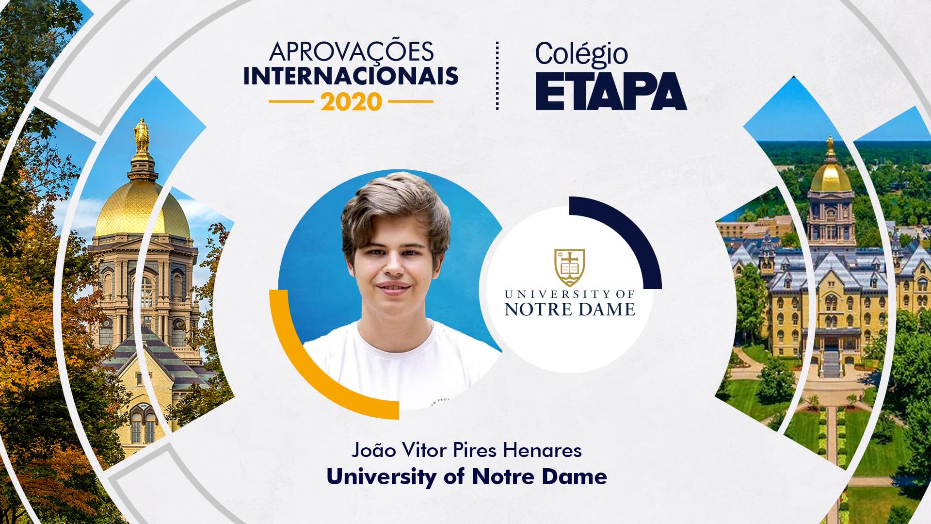 Aprovações Internacionais 2020: João Vitor Pires Henares