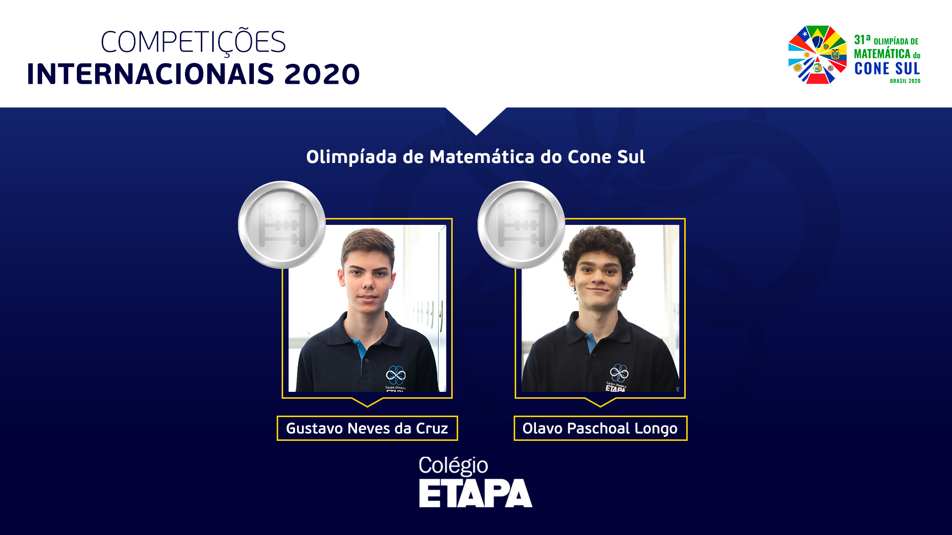 A Olimpíada de Matemática do Cone Sul 2020 ocorreu virtualmente entre os dias 1 e 6 de dezembro.
