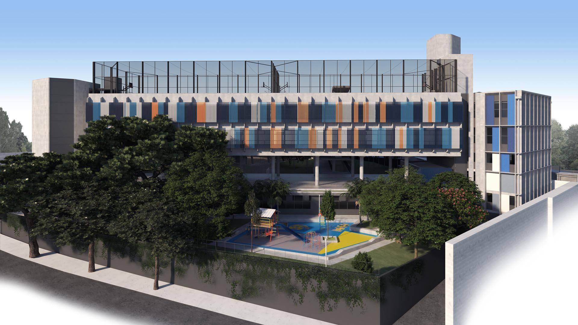 Parquinho  - Nova unidade do Colégio Etapa