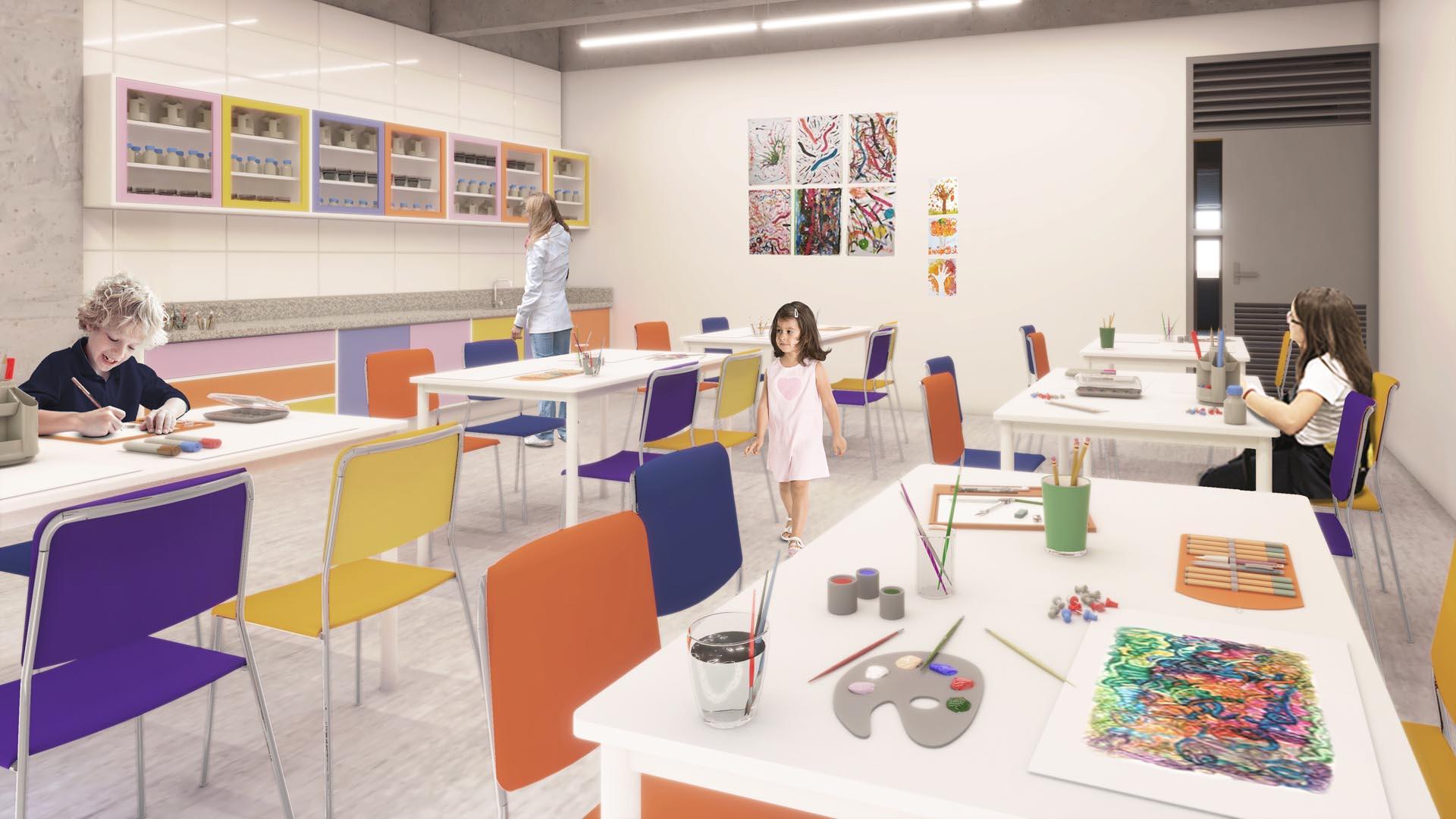 Sala de Artes - Nova unidade do Colégio Etapa