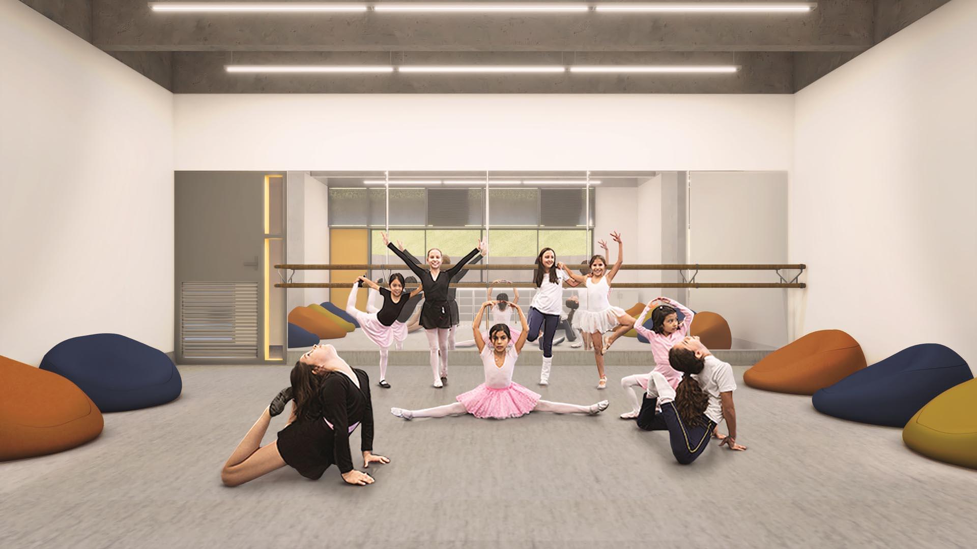 Sala de Dança - Nova unidade do Colégio Etapa