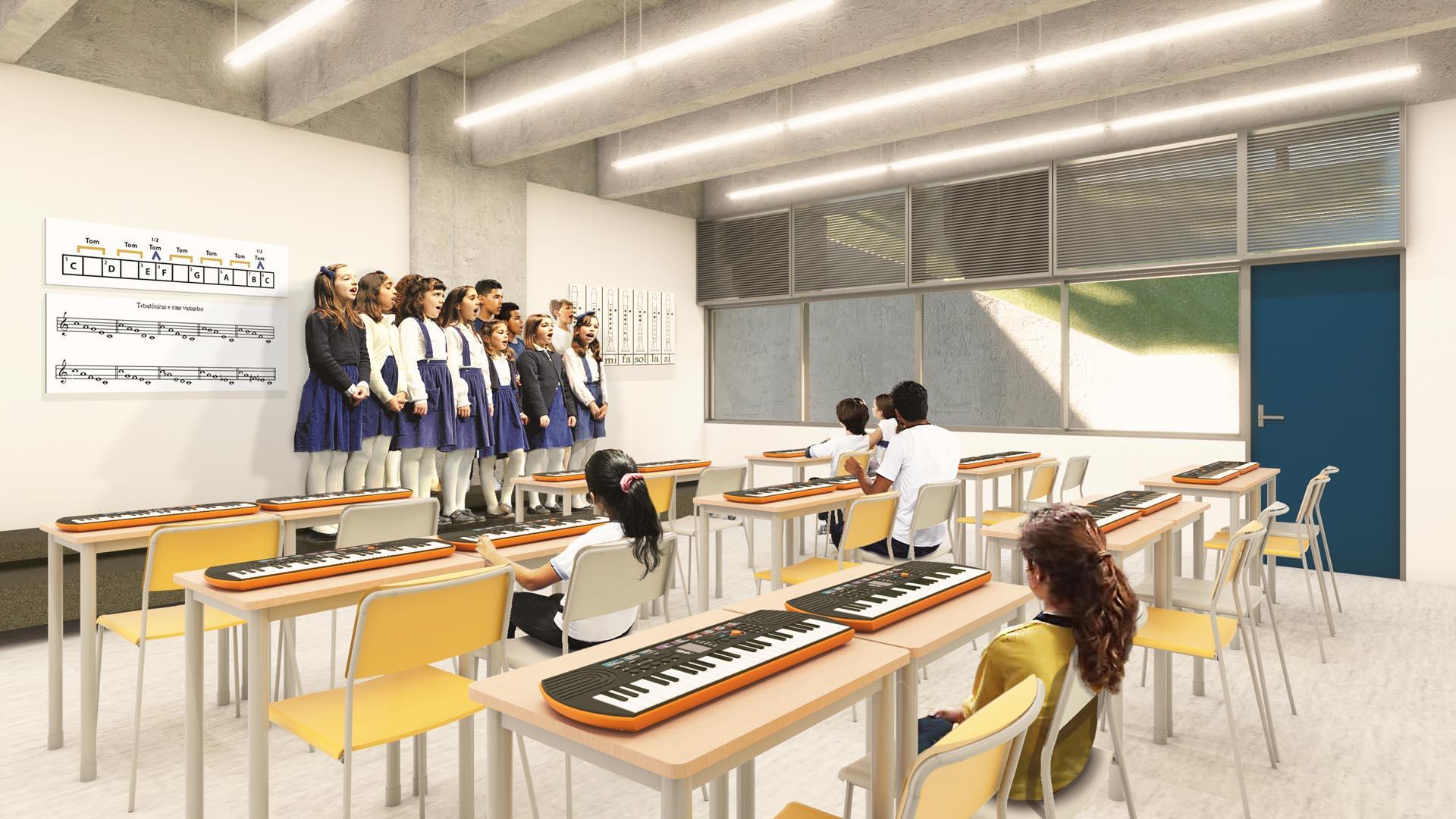 Sala de Música  - Nova unidade do Colégio Etapa