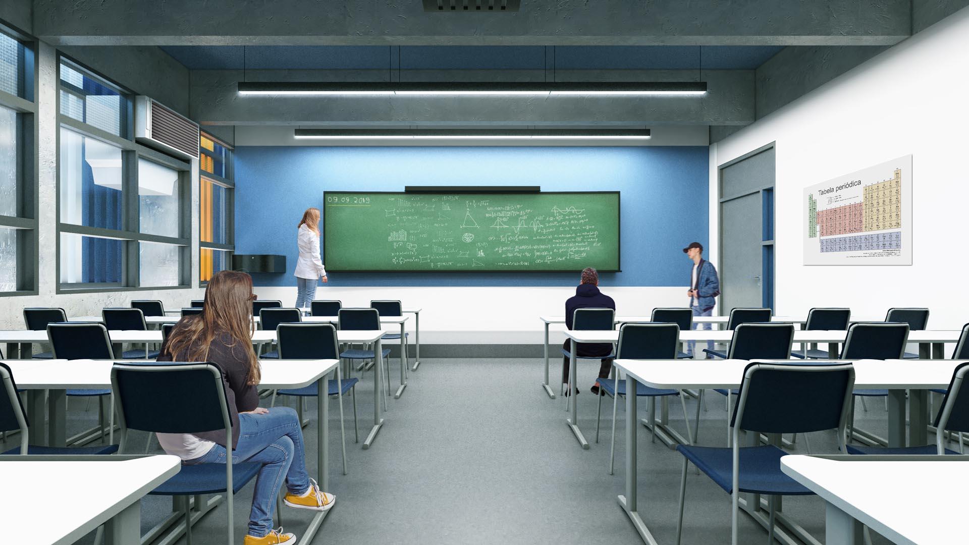 Sala de aula  - Nova unidade do Colégio Etapa
