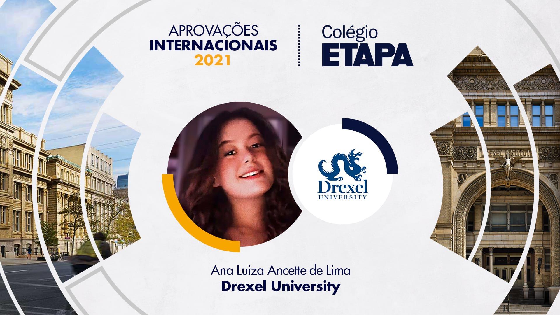 Aprovações Internacionais 2021: Ana Luiza Ancette de Lima