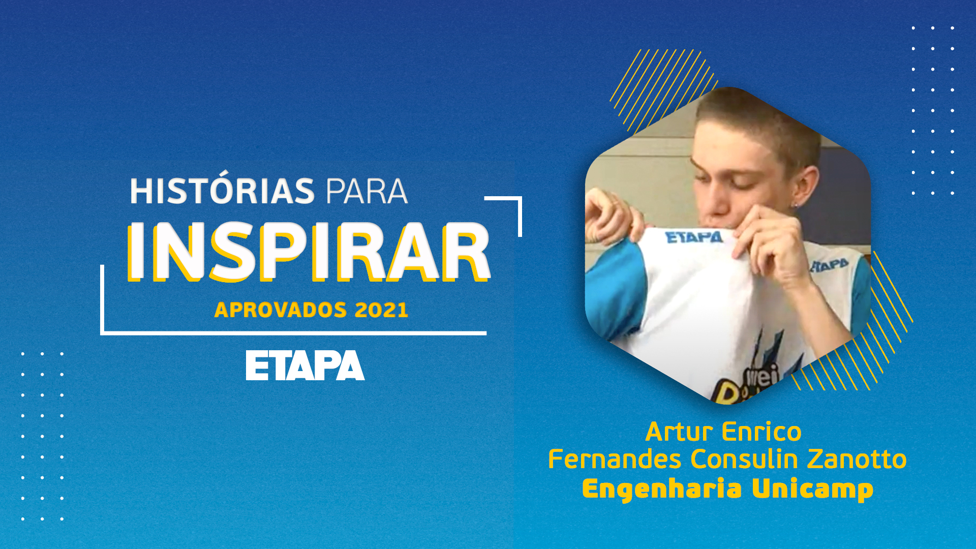Histórias para inspirar: Artur Enrico Fernandes Consulin Zanotto