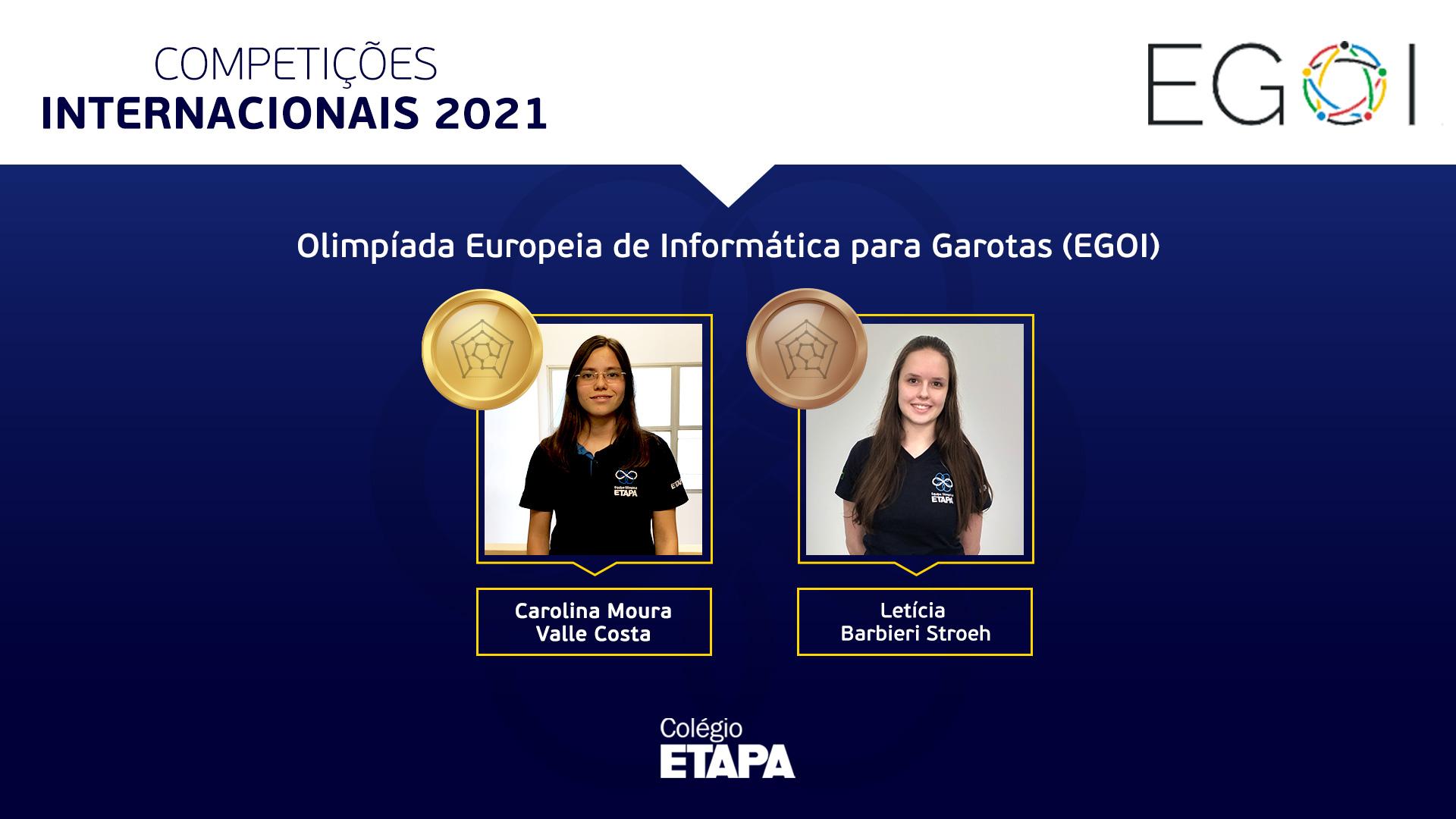 Alunas do Colégio Etapa conquistam medalhas na EGOI 2021