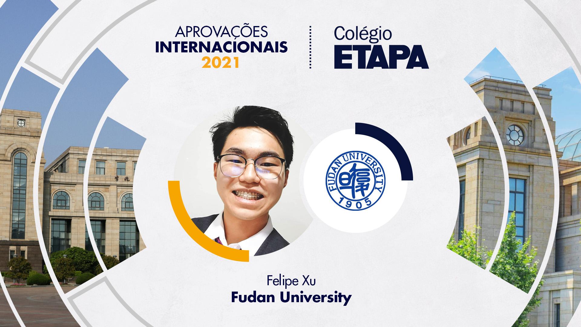 Felipe Xu vai estudar Negócios em Fudan University.