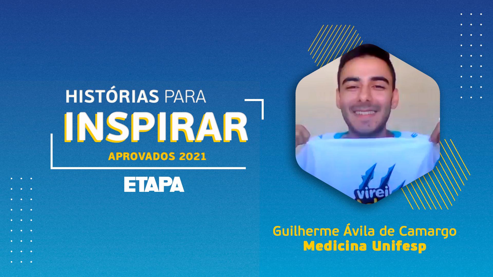Guilherme Ávila de Camargo destaca o papel dos professores e dos plantonistas durante a sua preparação para os vestibulares.