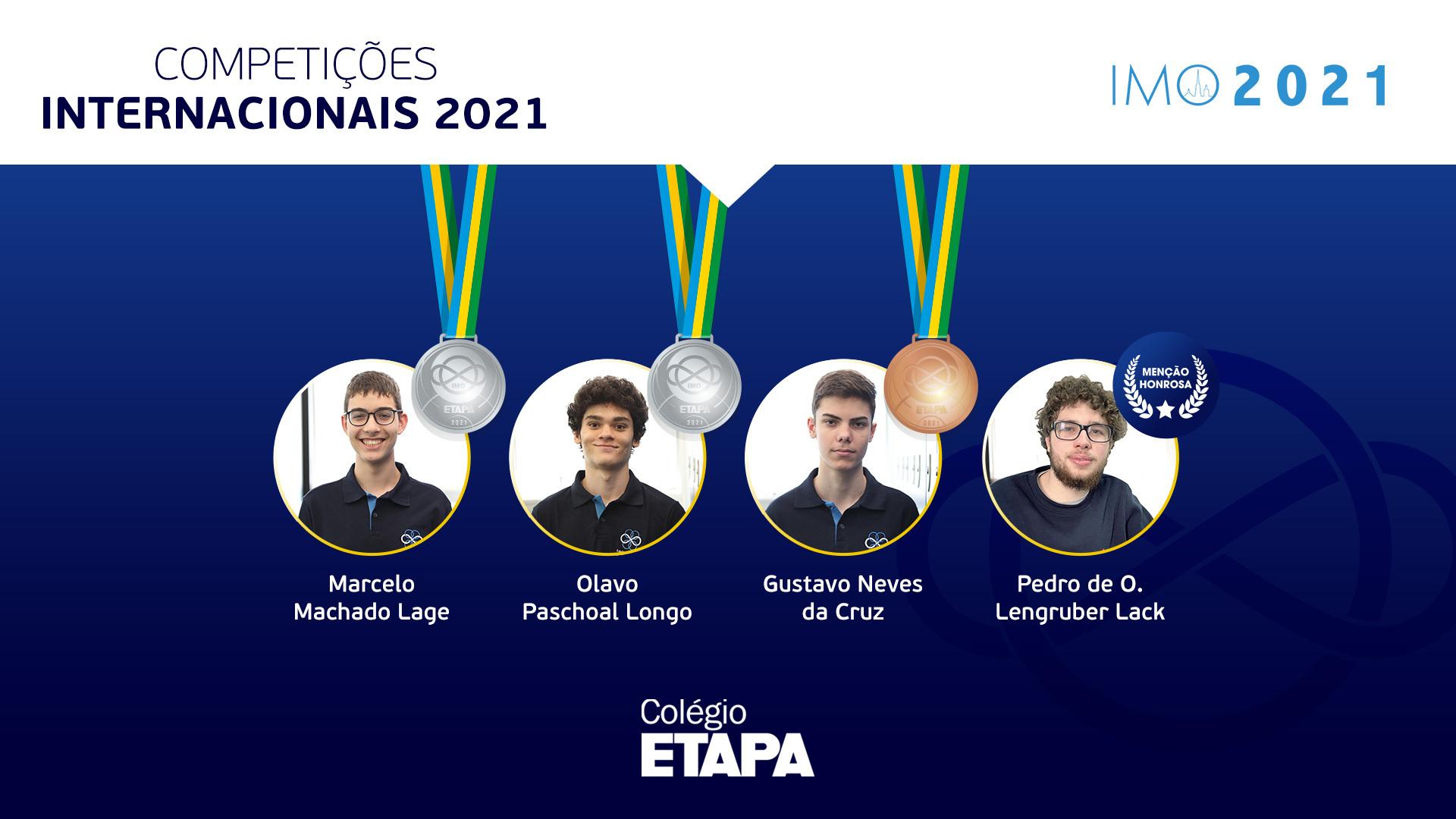 Alunos do Colégio Etapa conquistam medalhas na IMO 2021