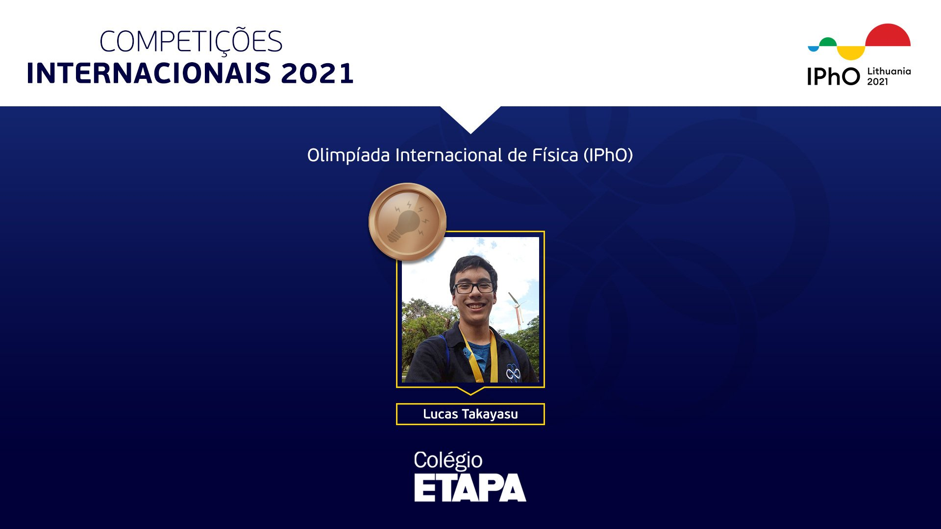Aluno do Colégio Etapa conquista medalha na IPhO 2021