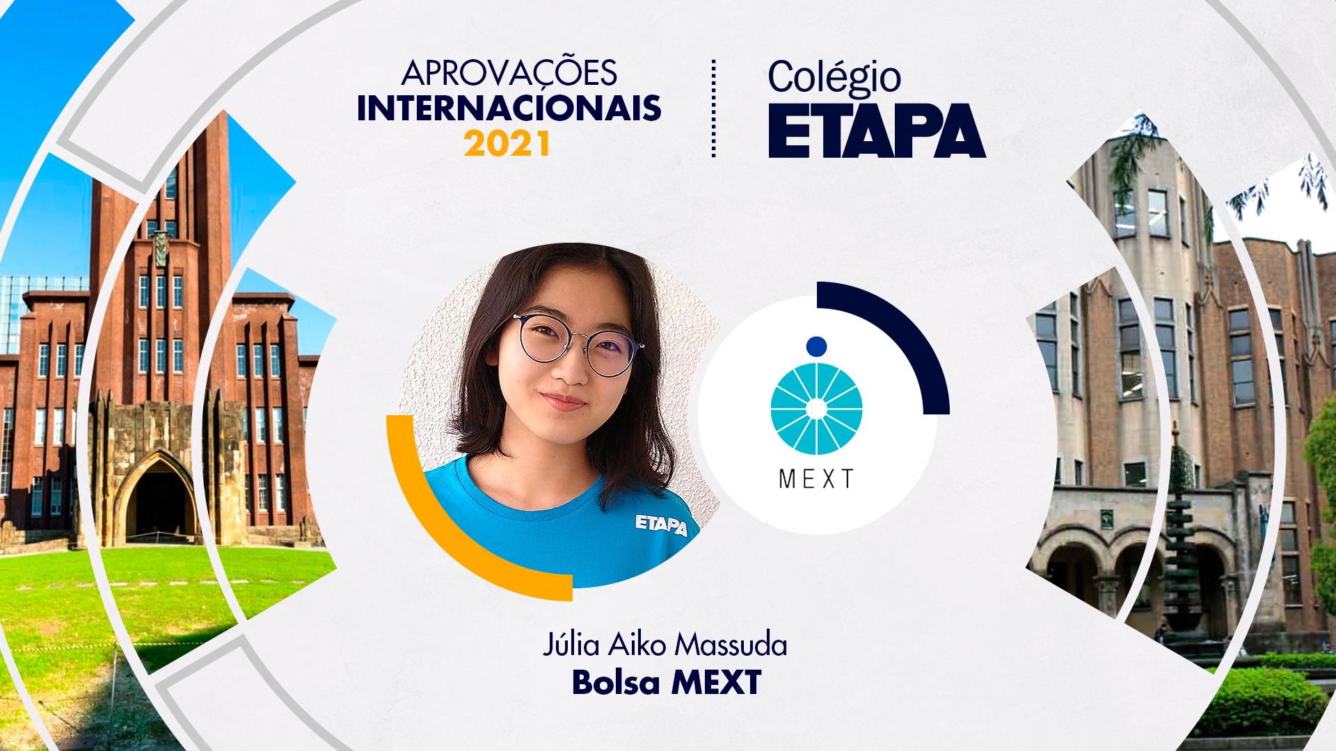 Júlia Aiko Massuda vai estudar Biotecnologia em uma universidade pública japonesa.