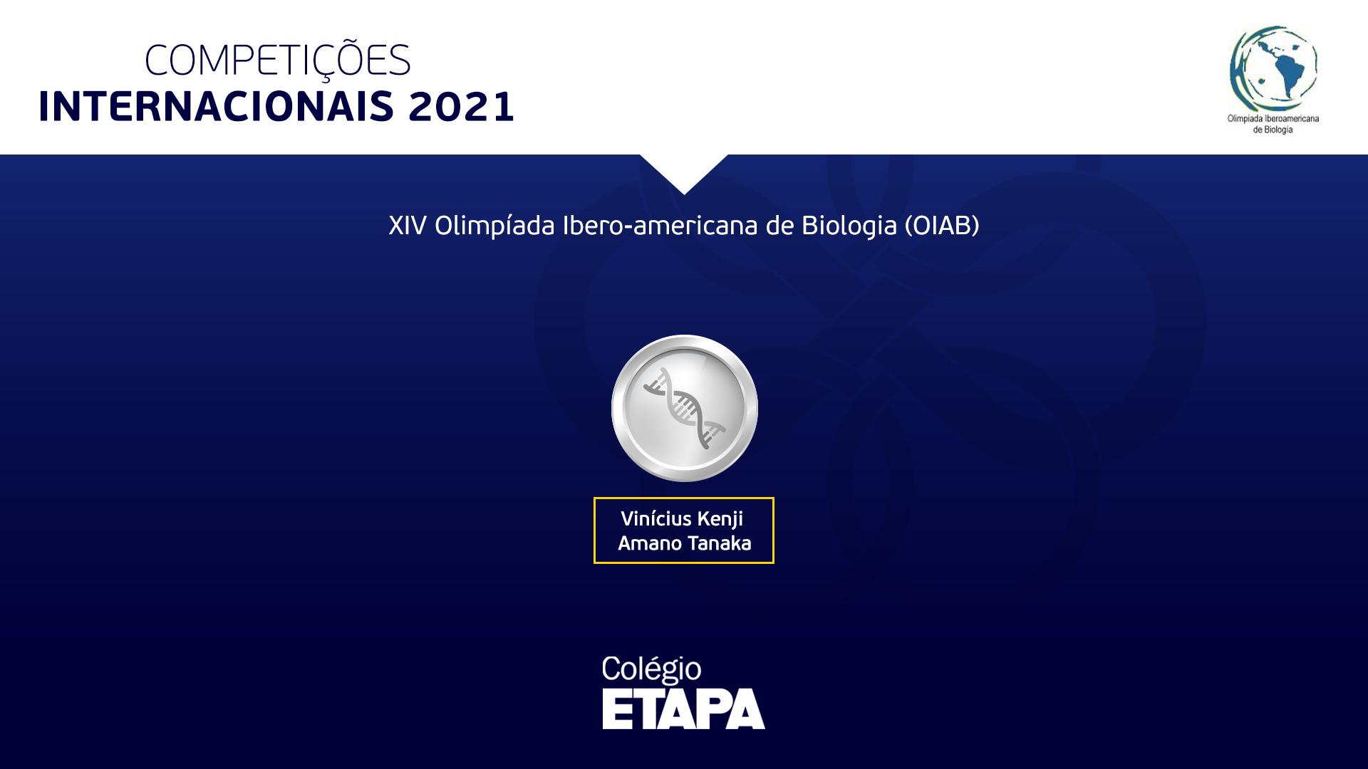 Aluno do Colégio Etapa conquista medalha na OIAB 2021