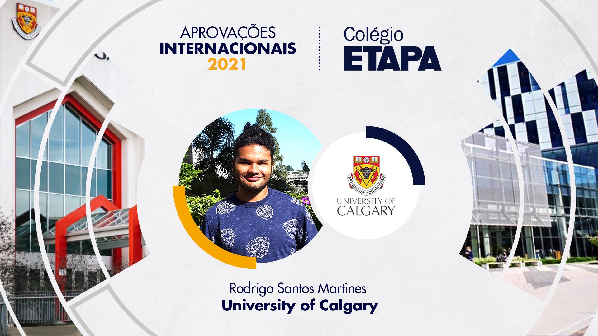 Aprovações Internacionais 2021: Rodrigo Santos Martines