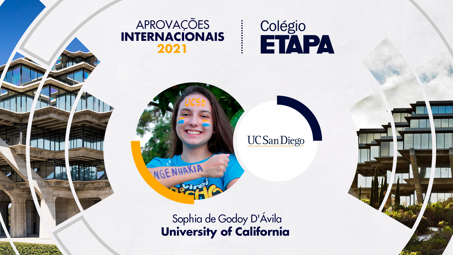Aprovações Internacionais 2021: Sophia de Godoy D'Ávila