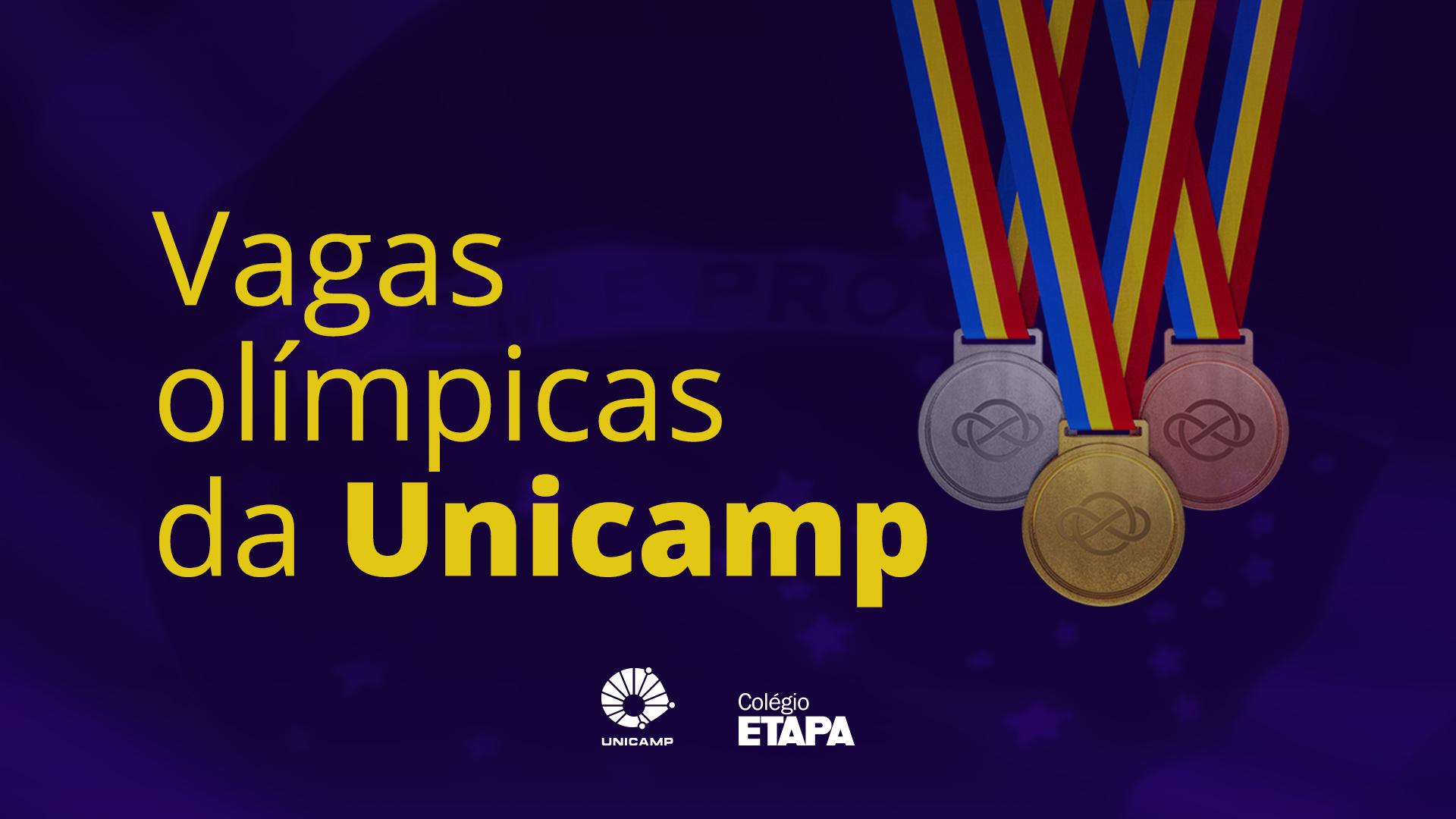 Confira a relação dos alunos do Colégio Etapa que foram aprovados na modalidade de vagas olímpicas na Unicamp.