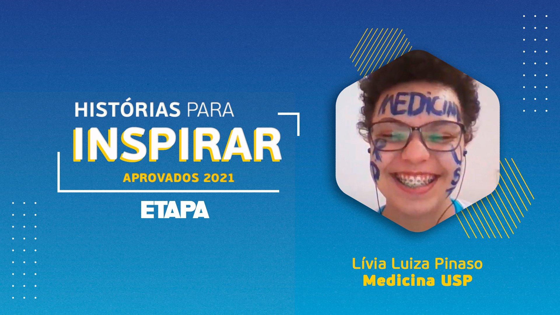 Lívia Luiza Pinaso afirma que o curso de Medicina Integral do Etapa foi fundamental para sua aprovação.