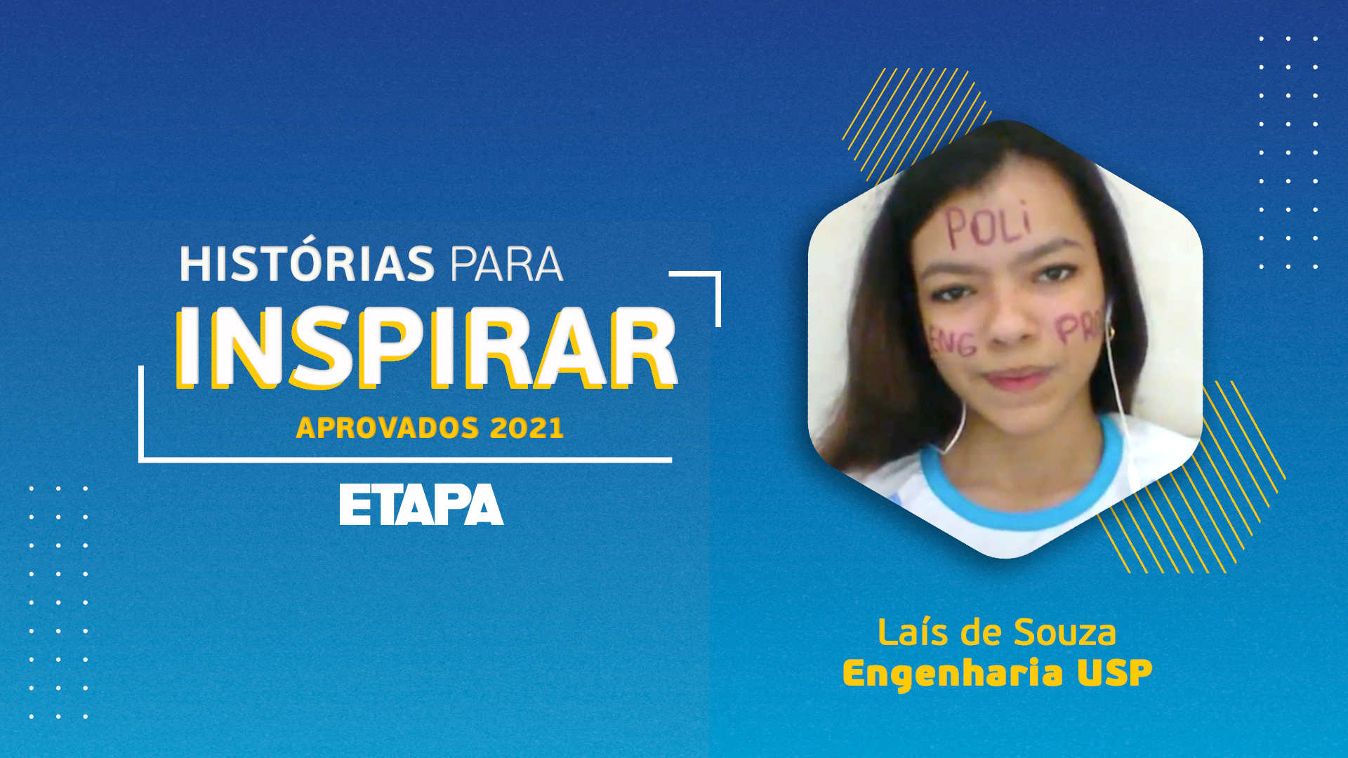 Laís de Souza afirma que o Reforço para Engenharia (RPE) do Curso Etapa foi essencial para sua aprovação.